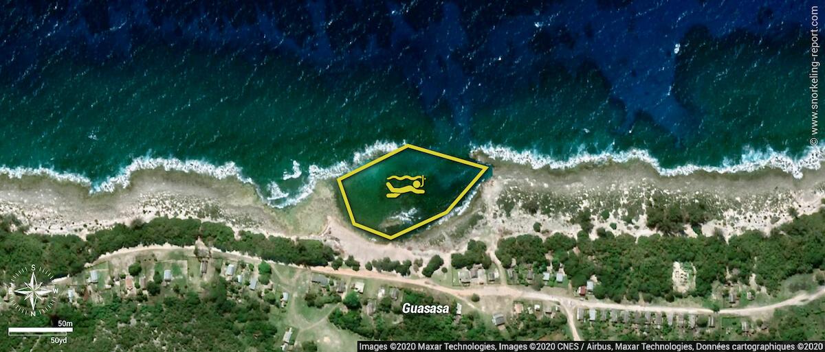 Guasasa snorkeling map