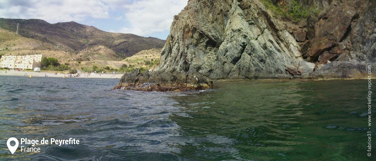 Falaises de la plage de Peyrefite et sentier sous-marin