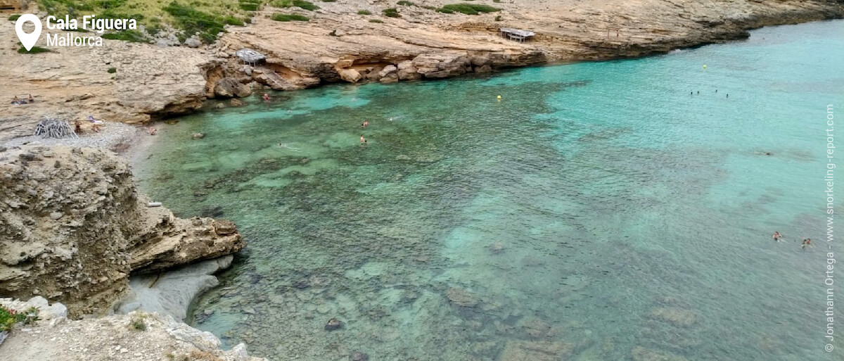 View of Cala Figuera snorkeling area