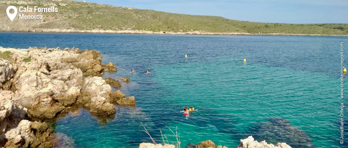 View over Cala Fornells snorkeling area