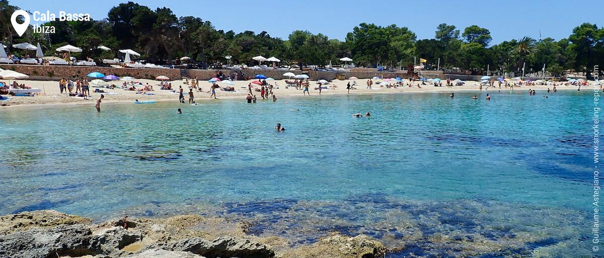 View of Cala Bassa best snorkeling area