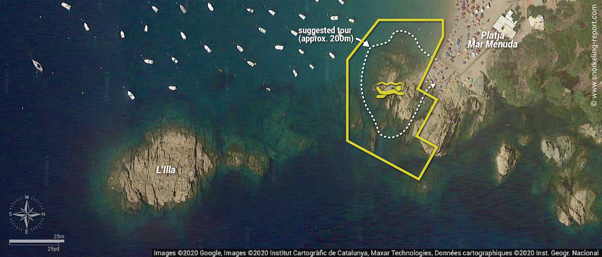 Platja Mar Menuda snorkeling zone