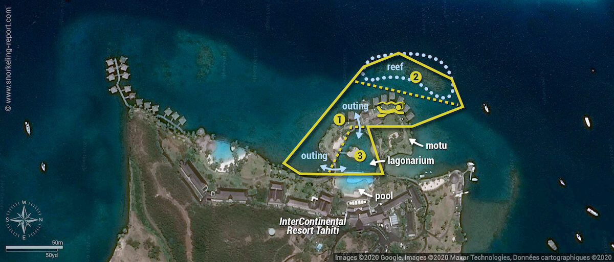 InterContinental Resort Tahiti snorkeling map