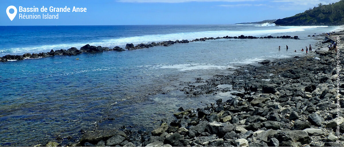 Grande Anse rocky pool, Reunion Island
