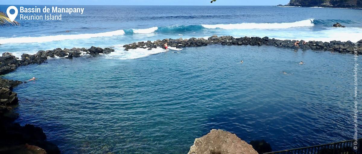 Manapany rocky pool, Reunion Island