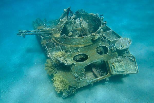 Tank wreck Aqaba