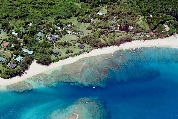 Fringing reef in Kauai