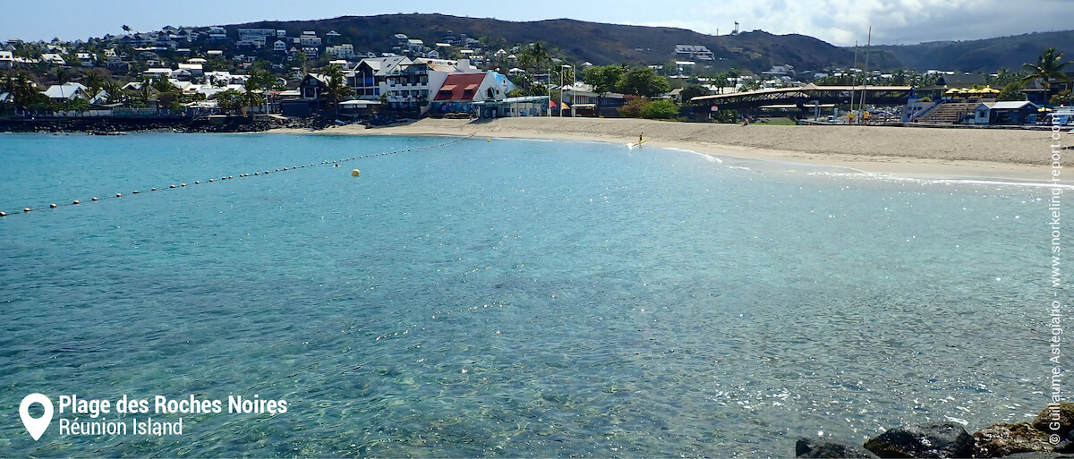 Roches Noires beach and snorkeling area