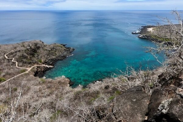 Rocky cove Galapagos