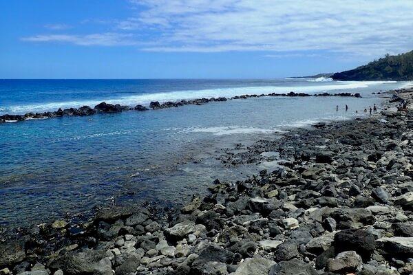 Rocky pool in Reunion Island