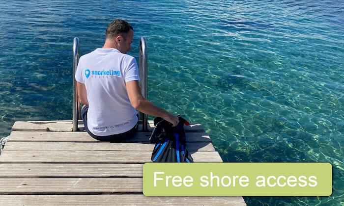 Free shore access