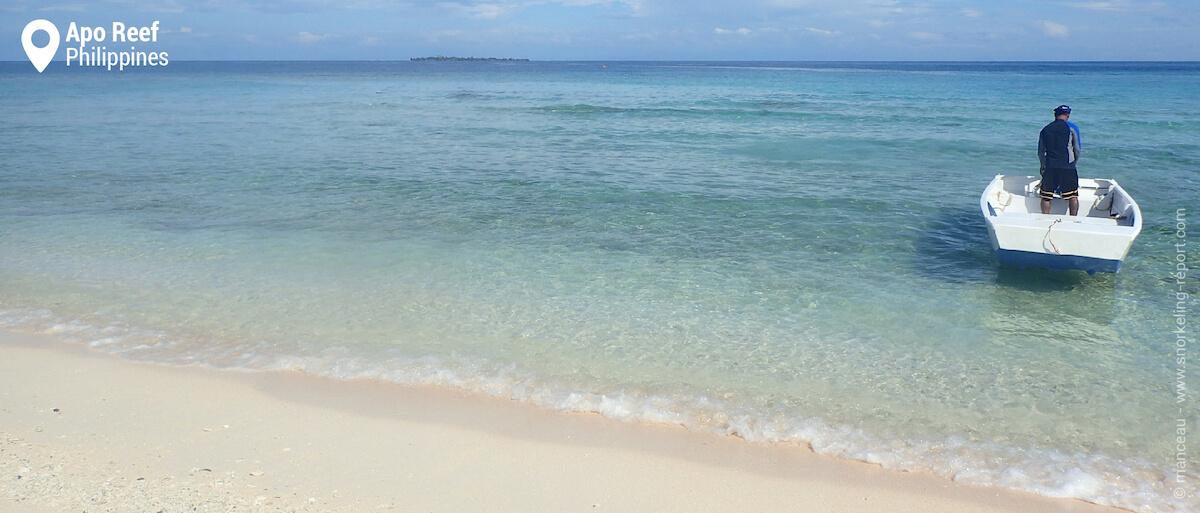 Apo Reef island beach