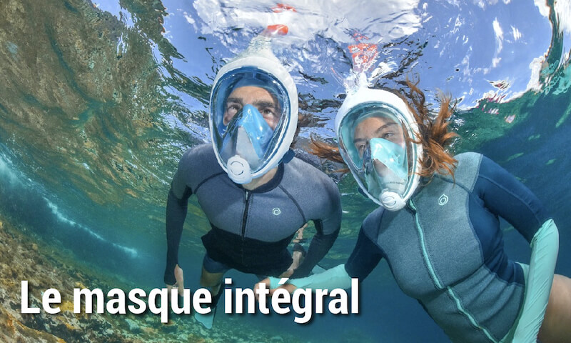 Masque snorkeling intégral