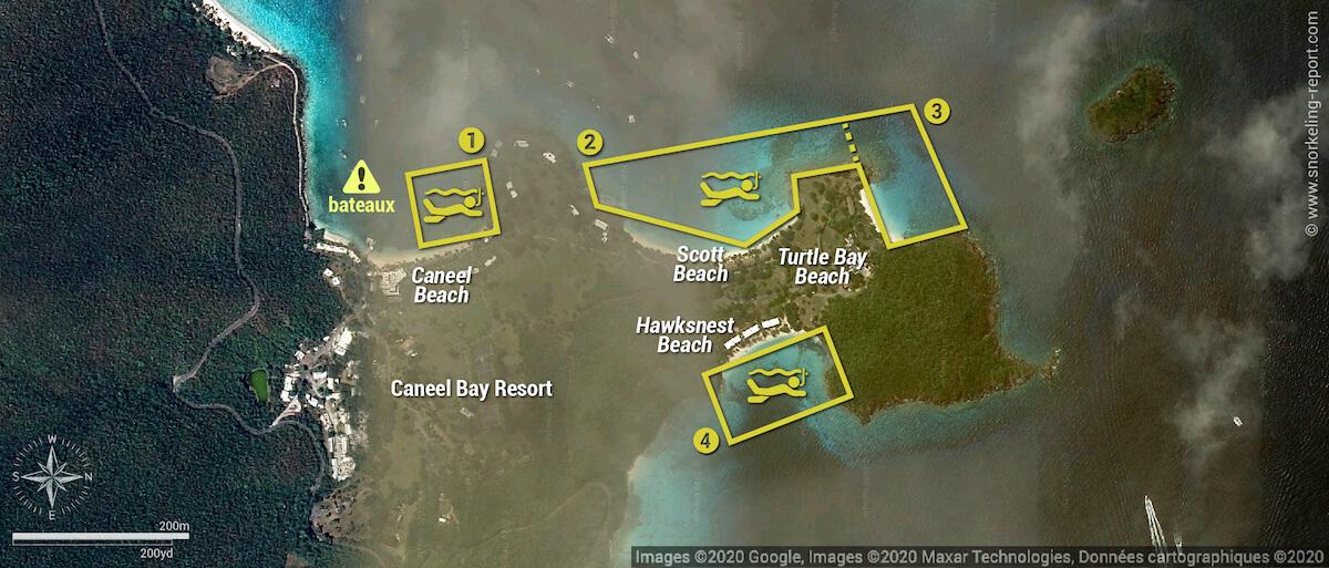 Carte snorkeling au Caneel Bay Resort