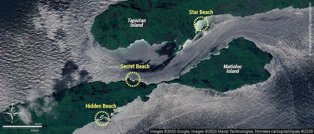 El Nido Tour C snorkeling map