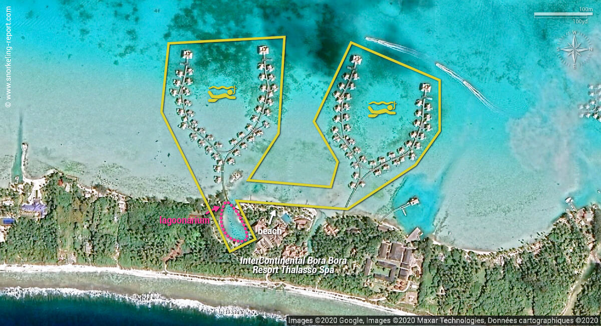 InterContinental Bora Bora Resort Thalasso Spa snorkeling map