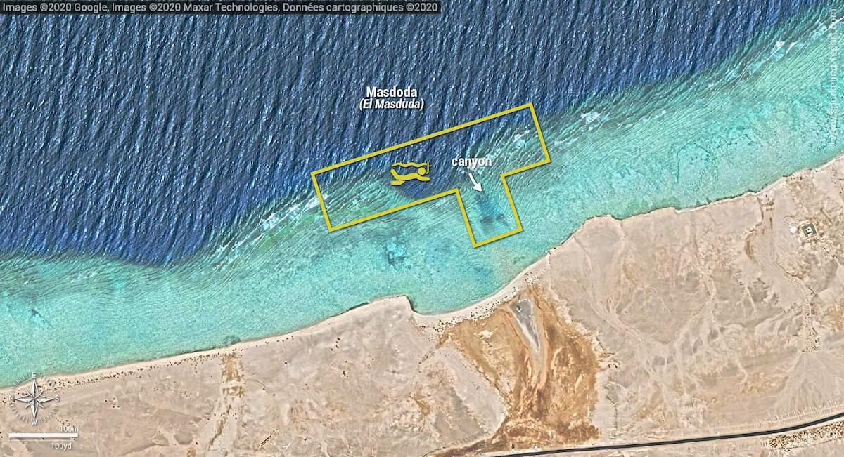 Masdoda snorkeling map, Marsa Alam