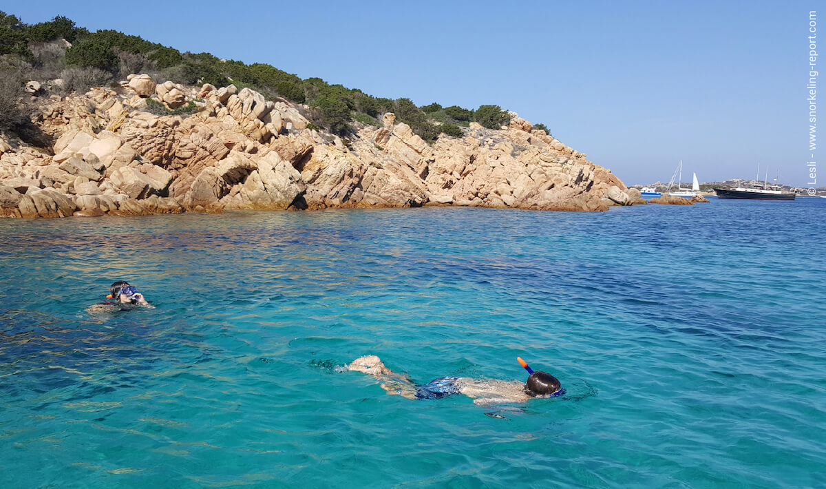 Snorkeling in La Maddalena archipelago, Sardinia