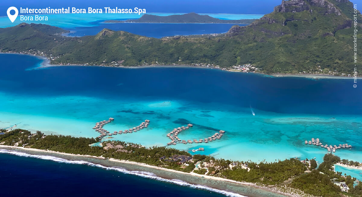 Aerial view of Intercontinental Bora Bora