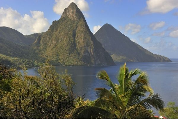 Piton mountains in St Lucia