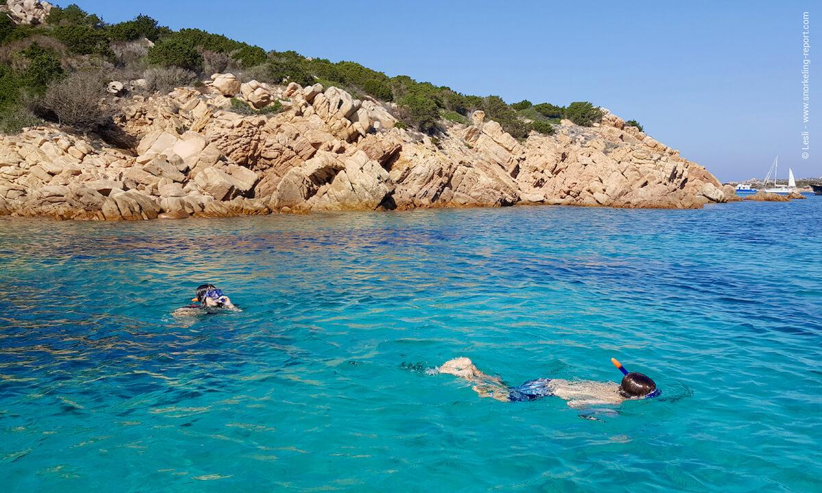 Snorkelers at La Maddalena archipelago