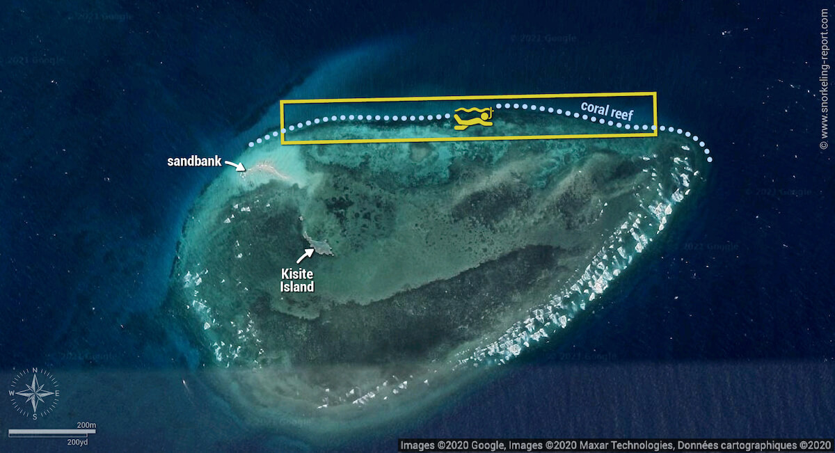 Kisite-Mpunguti Marine Park snorkeling map