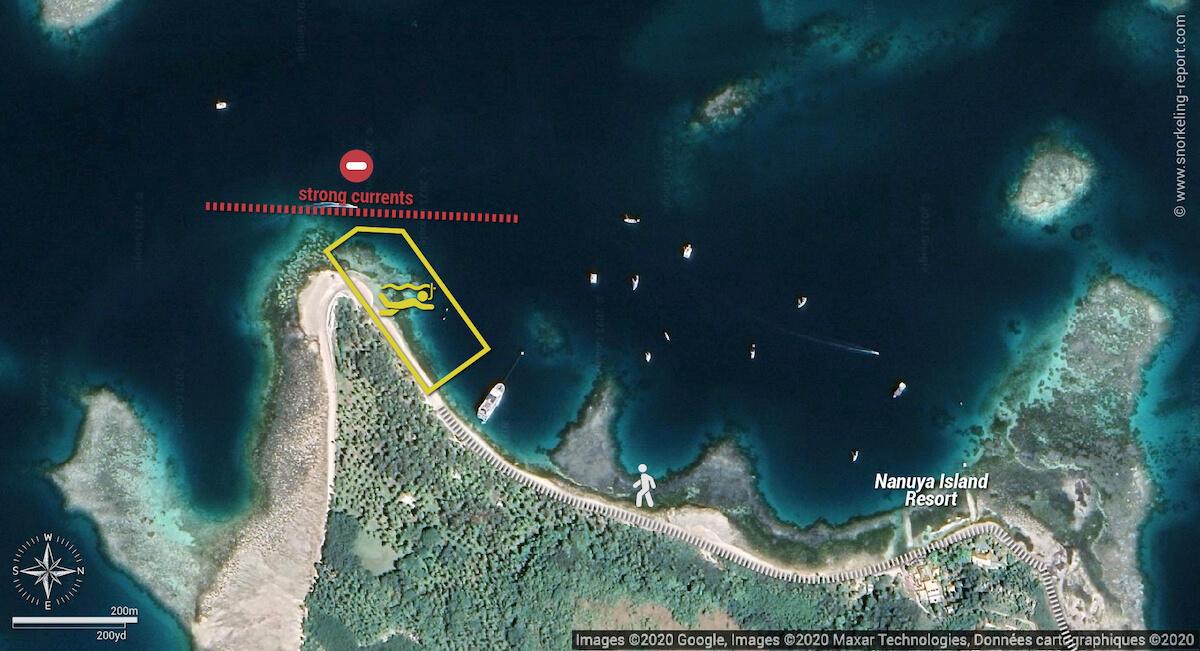 Blue Lagoon Fiji snorkeling map