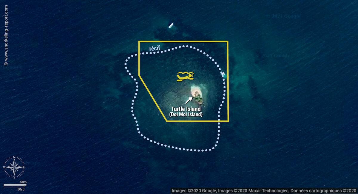 Carte snorkeling à Doi Moi/Turtle Island, Phu Quoc