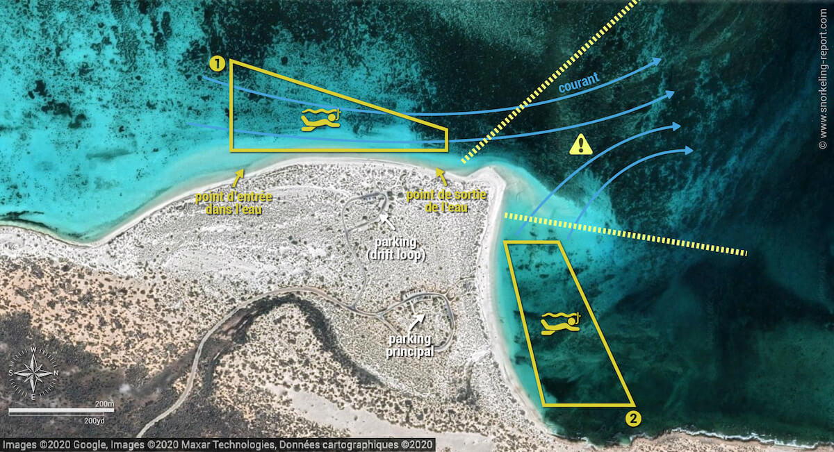 Carte snorkeling à Turquoise Bay, Australie